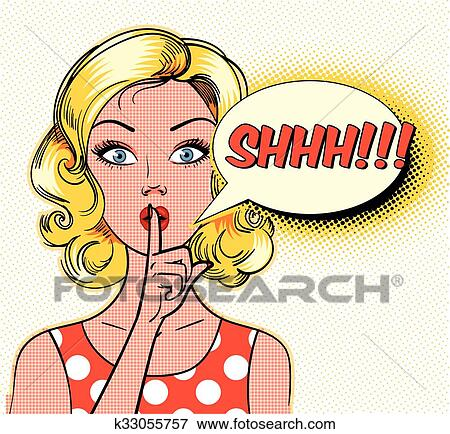 clip art of shhh k33055757 search clipart illustration posters rh fotosearch com shhh finger clipart shhh clipart free