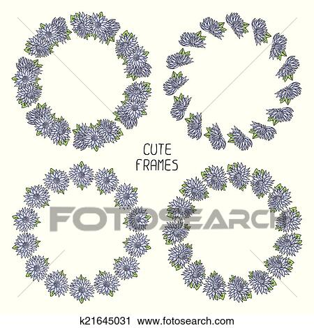 Clipart Of Vector Beautiful Floral Frame Illustration Background