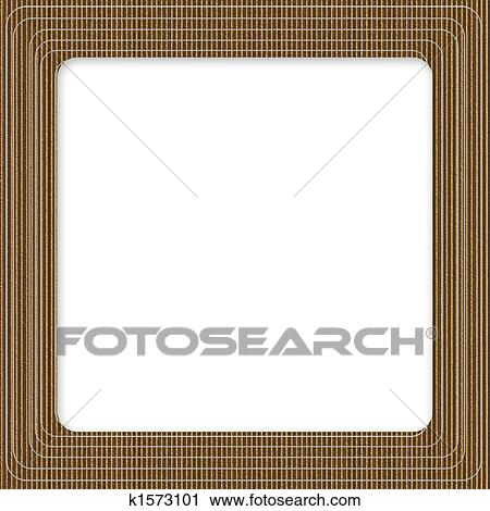 Clipart of Cardboard Square Frame k1573101 - Search Clip Art ...