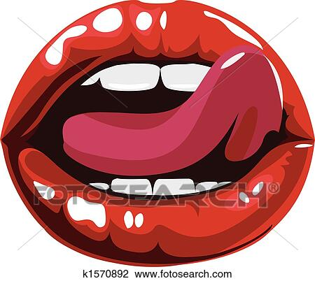 clipart of licking sexy red lips illustration k1570892 search clip rh fotosearch com