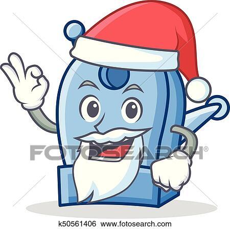 Clip Art of Santa pencil sharpener character cartoon k50561406 ...