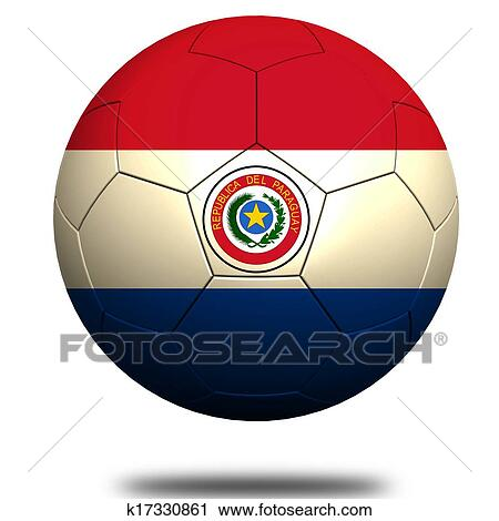 clipart of paraguay soccer k17330861 search clip art illustration