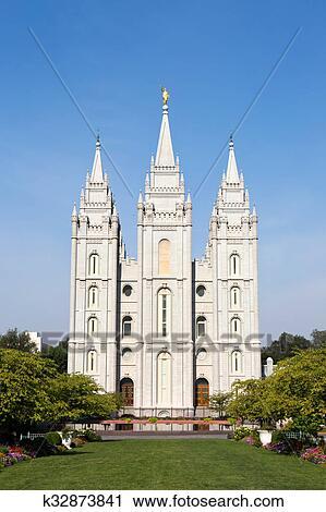 Banco de Fotografías - templo mormónico, tabernáculo, utah k32873841 ...