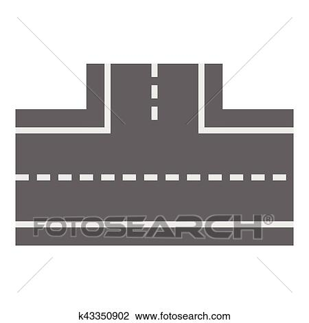 Dessin De Route clipart - voiture, route, icône, dessin animé, style k43350902