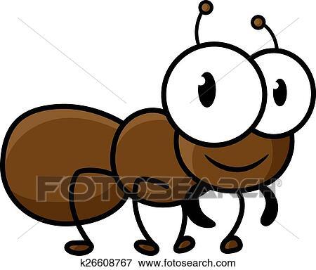 Cartoon cute brown ant character Clip Art | k26608767 ...