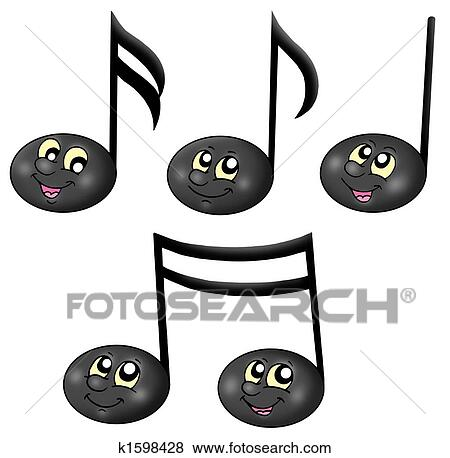 Stock Illustration Of Cute Music Notes K1598428 Search Eps Clip