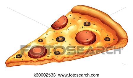 Clipart Fetta Di Pizza Pepperoni K30002533 Cerca Clipart