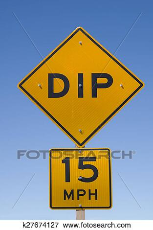 picture of dip road sign k27674127 - search stock photography