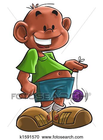 Stock Illustrations Of The Boy With Yoyo K1591570