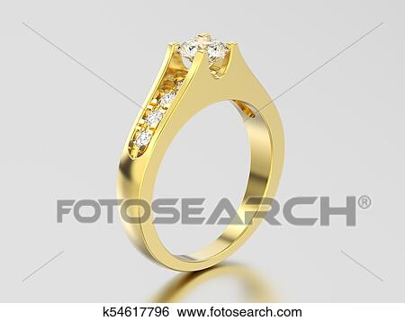 黄色 金 装飾用である 交渉 結婚式 ダイヤモンド指輪 イラスト