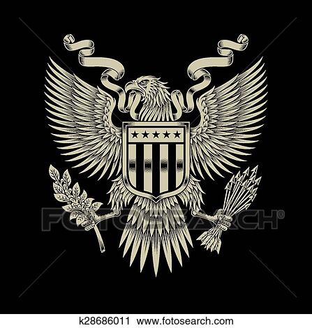 Clipart Of American Eagle Emblem K28686011 Search Clip Art