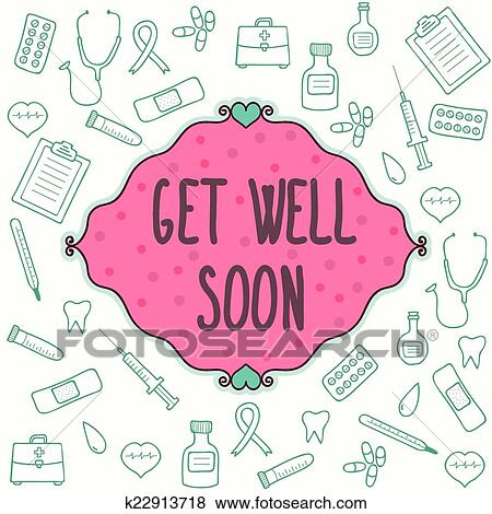 clip art get well soon card fotosearch search clipart illustration posters