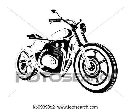 Moto Bike Icon Cafe Racer Clipart K50939352 Fotosearch