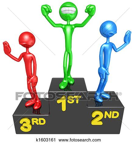 clipart of smiling champion on victory podium k1603161 search clip rh fotosearch com clipart podium gratuit medal podium clipart
