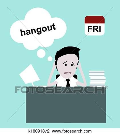 Stress At Work Clipart | k18091872 | Fotosearch