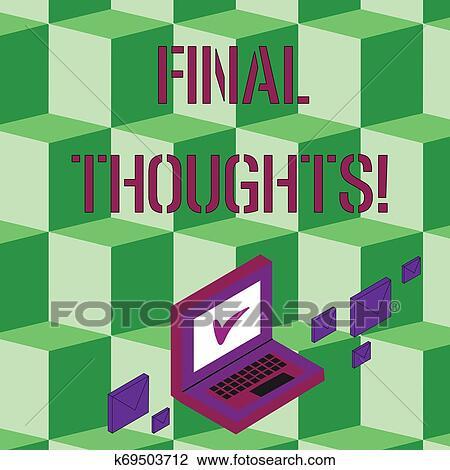 Texto Sinal Mostrando Final Thoughts Conceitual Foto