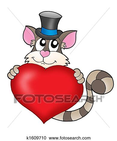 Galleria di illustrazioni tom gatto con cuore for Clipart cuore