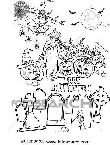 ausmalbilder halloween hexe
