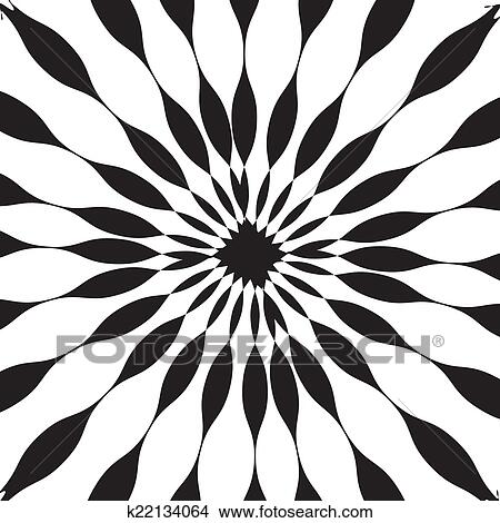 clipart of black and white abstract psychedelic art background