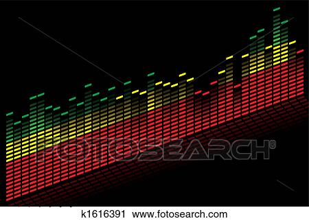 Colorful music equalizer - vector image Clipart