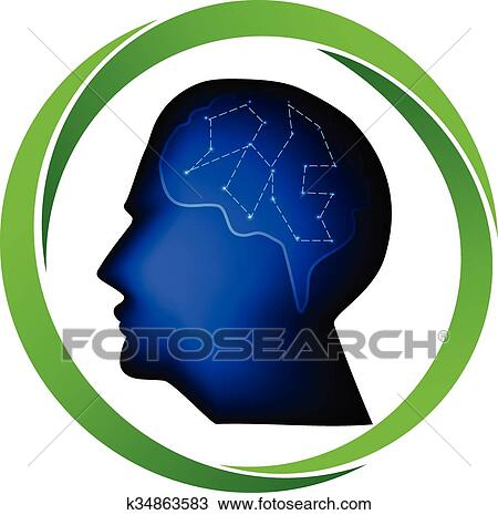 clipart of man head logo k34863583 search clip art illustration rh fotosearch com Business Card Graphics Business Card Templates