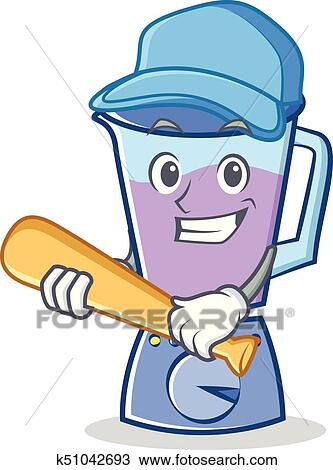 Playing Baseball Blender Character Cartoon Style Clipart K51042693 Fotosearch