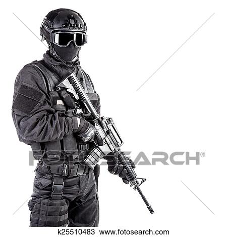 Stock Photo of Spec ops police officer SWAT k25510483 - Search Stock ...