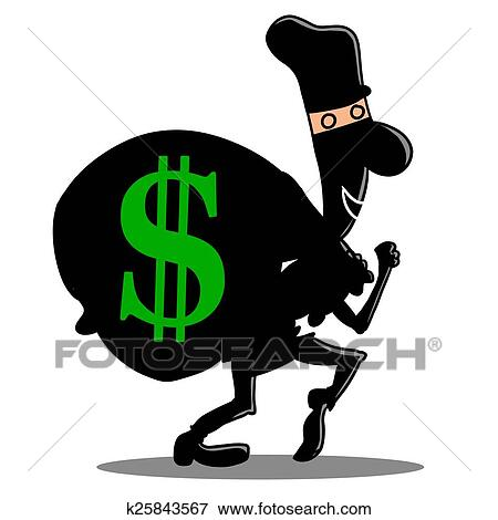 stock illustration of steal money siluet k25843567 search eps rh fotosearch com no stealing clipart no stealing clipart