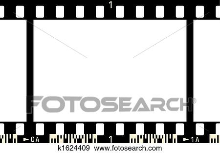 Clip Art of Film Strip k1624409 - Search Clipart, Illustration ...