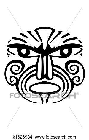 Disegni Maori Faccia K1626984 Cerca Illustrazioni Clipart