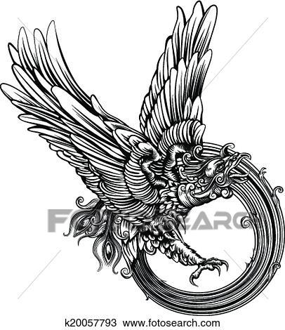 clipart of phoenix bird or eagle k20057793 search clip art