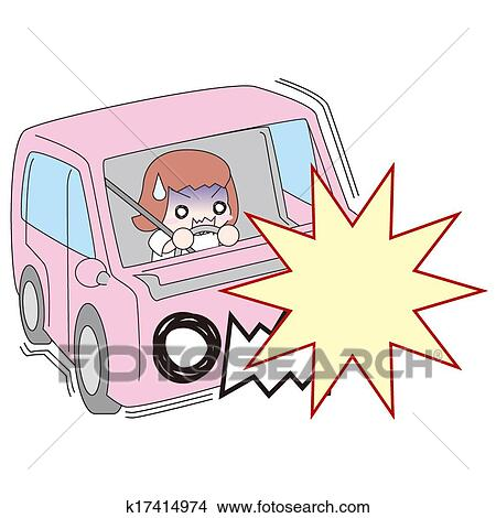 Drawings of Traffic accident k17414974 - Search Clip Art ...