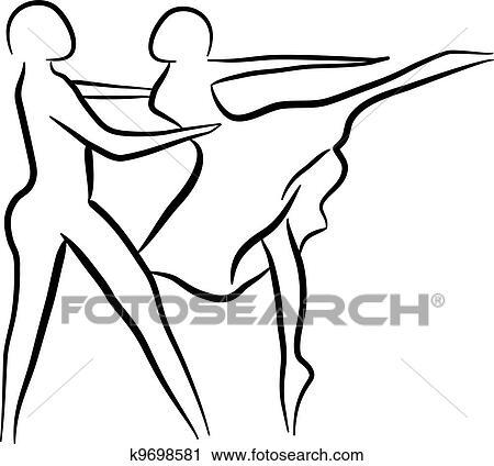 clipart of couple dancing sketch concept k9698581 search clip art rh fotosearch com ballroom dancing couple clipart wedding dancing couple clipart