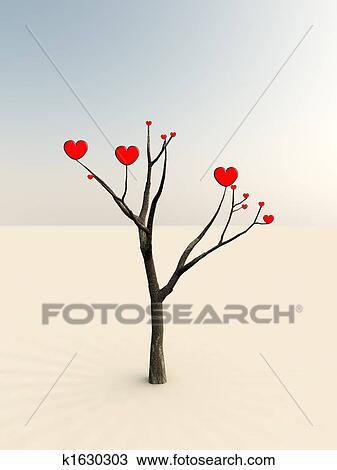 Dibujo El árbol De Amor K1630303 Buscar Clip Art