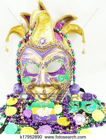 Stock Fotografie Fasching Maske Und Perlen K17952890 Suche
