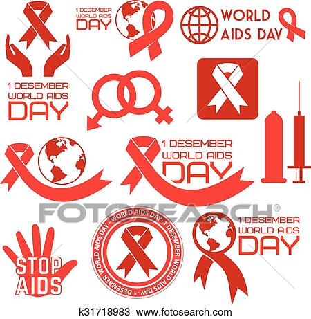 World aids day2  eps Clipart