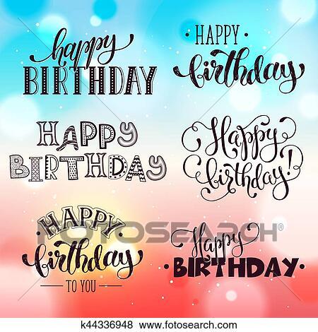 Buon Compleanno Iscrizione Clip Art K44336948