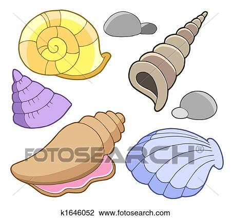 Sea shells collection Animated Seashells