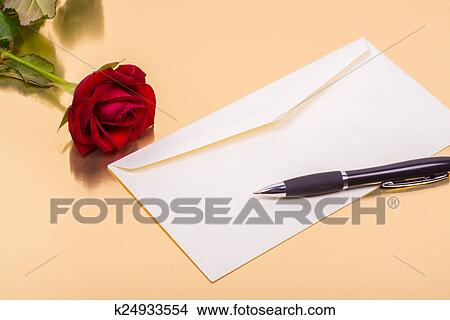 stock photo love letter and a rose on a golden background fotosearch search