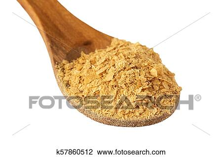 Nutritional brewers yeast flakes Stock