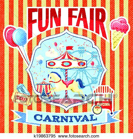 clipart of vintage carnival poster template k19863795 search clip