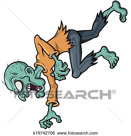clip art of zombie k19742706 search clipart illustration posters rh fotosearch com clipart zombie zombies clipart gif