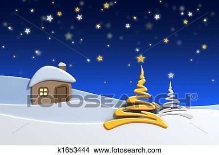 Dessins Maison Dans Neige Montagne K1653444 Recherche De Clip