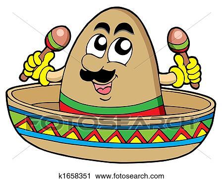 clipart of mexican sombrero k1658351 search clip art illustration rh fotosearch com sombrero pictures clip art sombrero clip art black and white