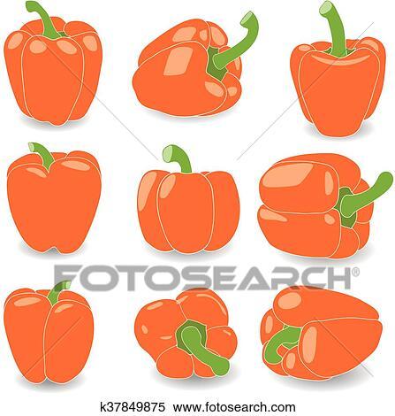Orange Pepper Clip Art