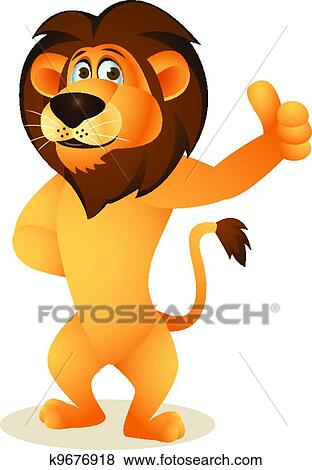 Clip Art of Funny lion cartoon k9676918 - Search Clipart ...