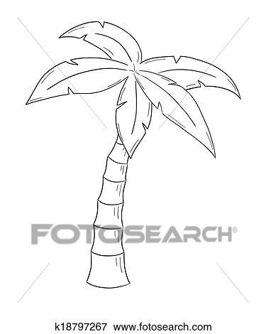 palmboom kleurplaat skizze dass palme clip