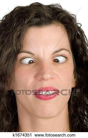 المرأة أحول العينين ألبوم الصور K1674351 Fotosearch