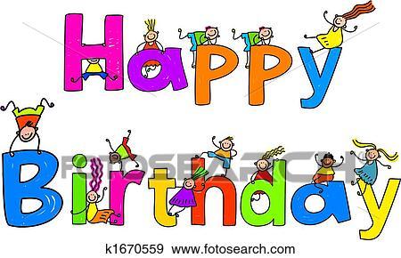 Stock Illustraties Gelukkige Verjaardag K1670559 Zoek Vector