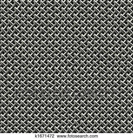 Metal Wire Mesh Drawing K1671472 Fotosearch